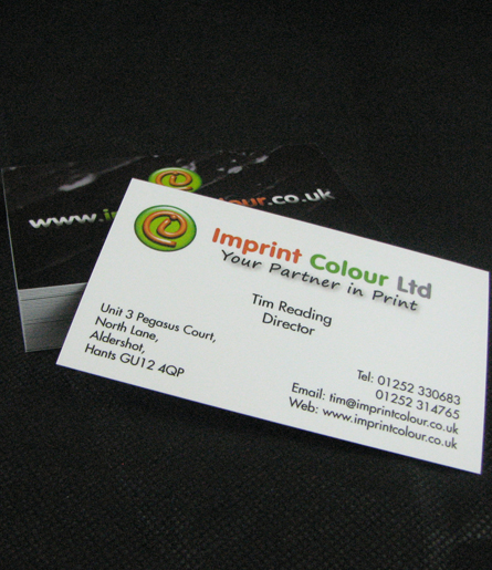 Business cards imprint colour ltd business cards v2 reheart Gallery